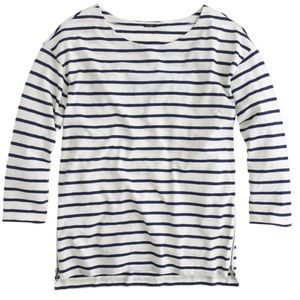 J. Crew Side -Zip Stripe Tee