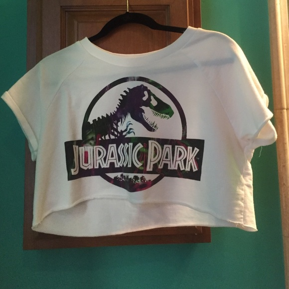 59108173140 Forever 21 Tops - Forever 21 Jurassic Park Crop Top