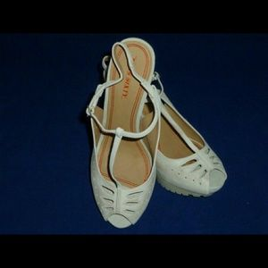 Miss Sixty Shoes - Miss Sixty (Jordan's) T-Strap Shoes...Off White...