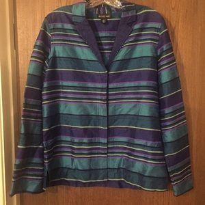 August Max Jackets & Blazers - August Max silk jacket