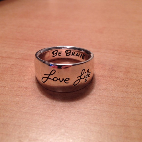 Kohls Accessories Love Life Be Brave Silver Ring Poshmark