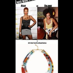nOir Sobat necklace as seen on l.a.m.b. Runway