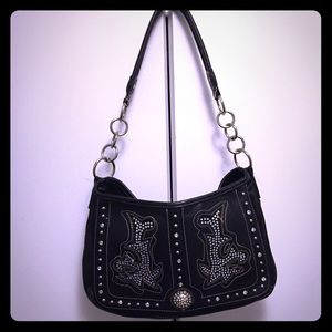 Cowgirl Couture!  Black handbag