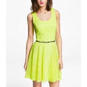 Express Dresses - An express neon yellow dress