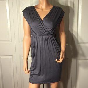 Gray Drape-Like Dress