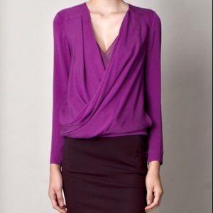 Diane von Furstenberg Tops - Diane von Furstenberg Purple Wrap Top