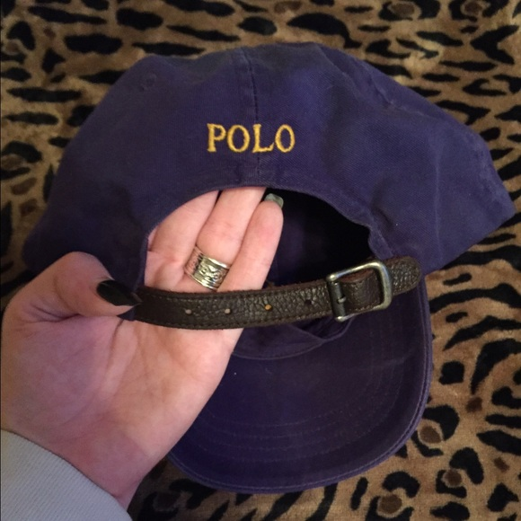dc0f8add5 Leather strap polo hat   discontinued  . M 54eeebb6ea3f362251005d54