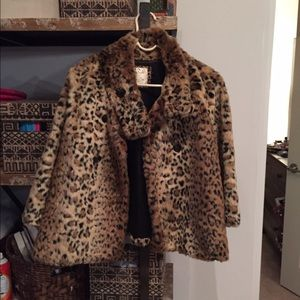 Free People Cheetah Faux Fur Jacket