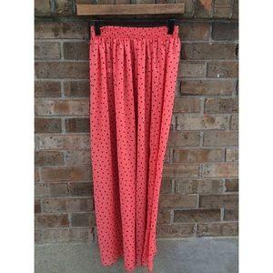 American Apparel Chiffon Maxi Skirt
