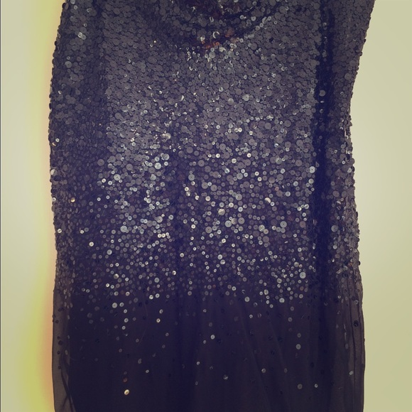 dkny dkny black sequined a line skirt from s closet