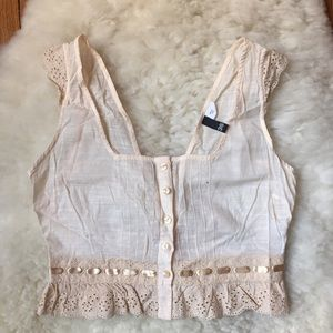 H&M Tops - H&M Cream Vintage Inspired Corset Top