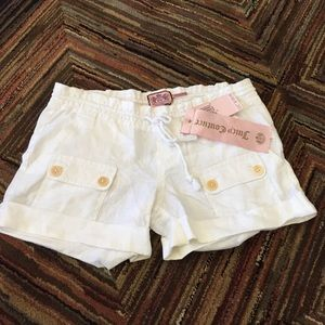 NWT Juicy Couture white linen short size xs/petite