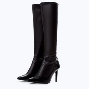 Zara Stretch High Heeled Boots