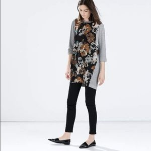 Zara printed velour dress
