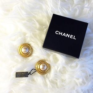 Authentic Chanel Clip On Earrings