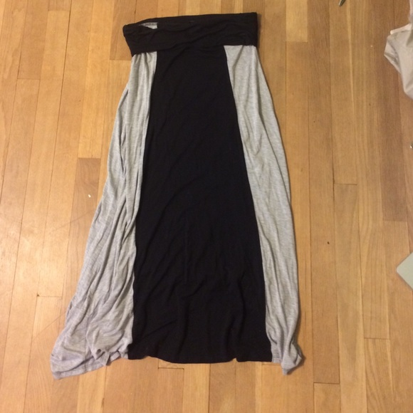 29 dresses skirts grey and black maxi skirt from