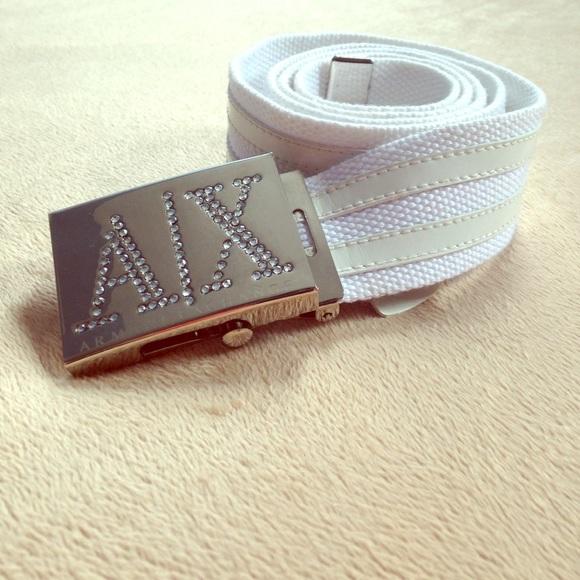 Armani Exchange - A/X white belt from Tatyana's closet on ...