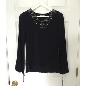 💥Black blouse with embroidery