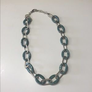 Jewelry - Turquoise and silver link necklace