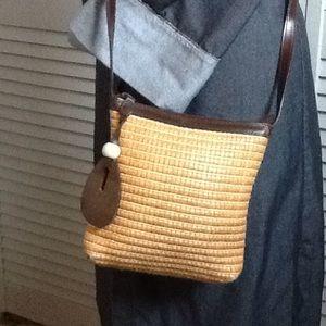 Valerie Stevens Handbags - Leather and Rattan Crossbody