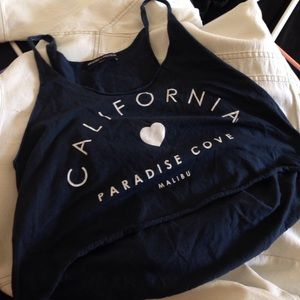 Authentic brandy Melville Ca paradise tank croptop