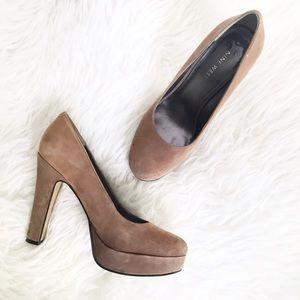 Nine West taupe/tan platform pumps