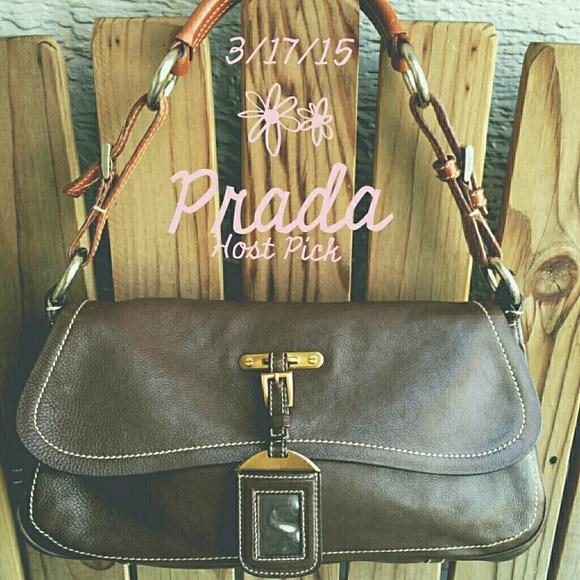67% off Prada Handbags - 4X\u0026#39;s HP! Prada Dark Brown Leather ...