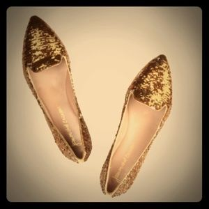 Jean Michel Cazabat sequin leather flats