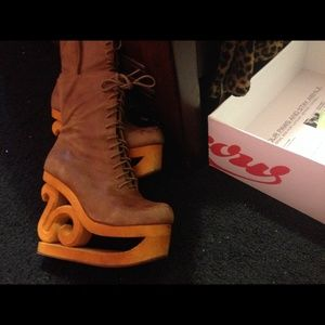 Jeffrey Campbell Skate Boots