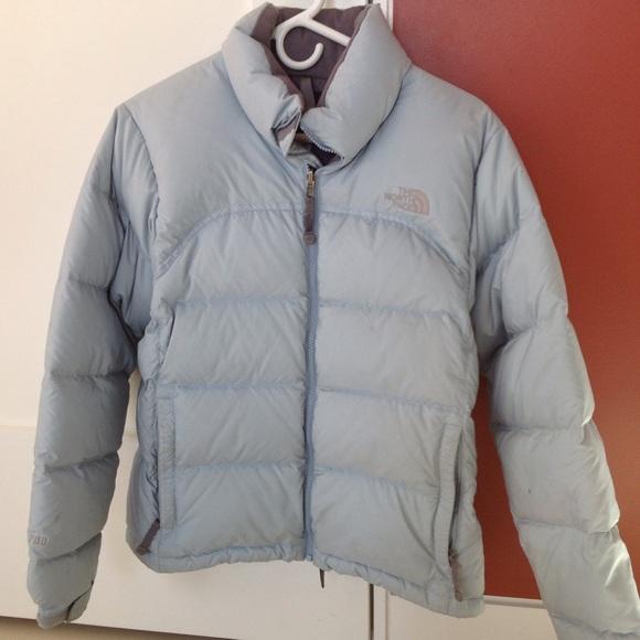 37002abb7 Women's North Face Nuptse Jacket - light blue