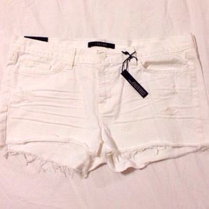 J Brand Denim - 🆕NWT J Brand White Distressed Denim Cutoff Shorts