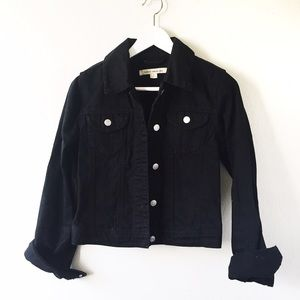 Forever 21 Jackets & Blazers - F21 black distressed denim jacket
