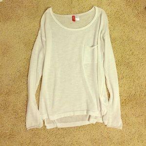 446f143fe3b1ce H&M Tops | White Hm Long Sleeve Top | Poshmark
