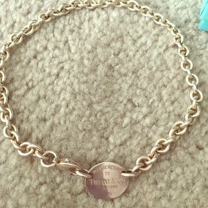 Authentic Silver Tiffany & Co. Oval tag Necklace