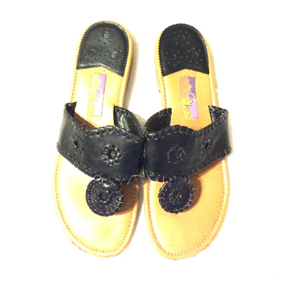 Hot Cakes Shoes Black Sandals Similar To Jack Rogers But