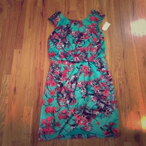 Jessica Simpson Green Floral Dress - Size 6