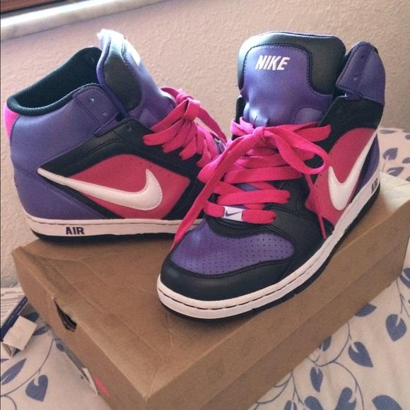 eb26c07086ed02 ... PURPLE Nike Prestige Pink And Black High Top Sneakers Sz 11 Nike Shoes  - Nike air prestige II high tops ...