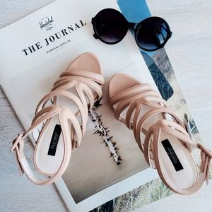 Zara Shoes - ZARA Nude Strappy Sandals