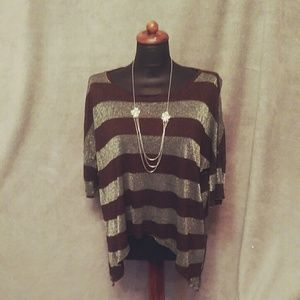 Vintage Havana burgundy silver high Low sz M top