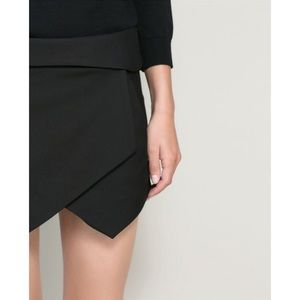 Zara black asymmetrical shorts