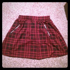Fun red and black plaid skirt. NWOT