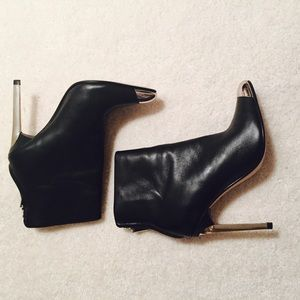 Zara Black Boots Leather