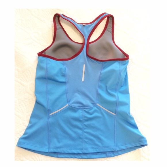 87 off nike tops nike dri fit blue tank with built in for Shirts with built in sports bra