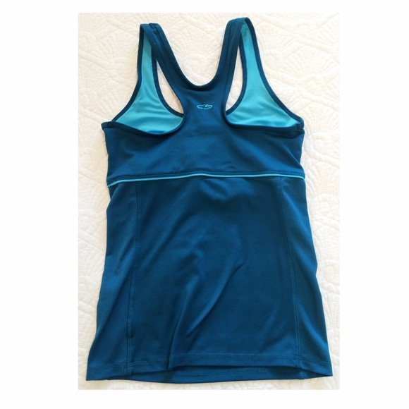 71 off champion tops champion teal tank with built in for Shirts with built in sports bra