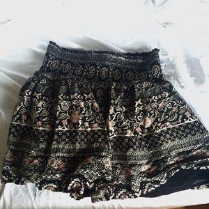 floral patterned skirt