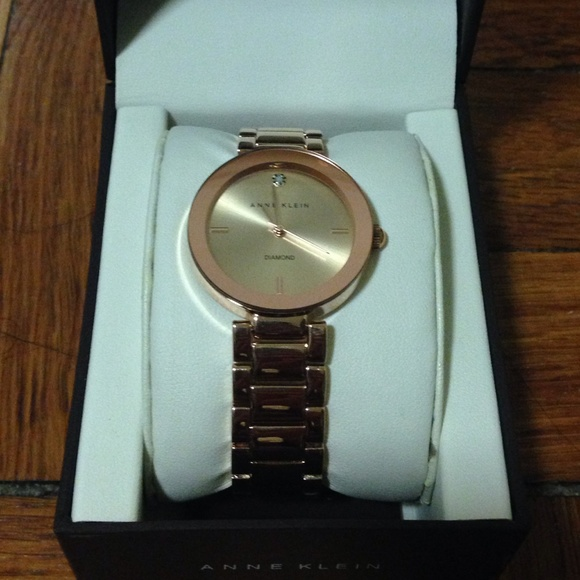 53 off Anne Klein Jewelry Watch Womens Diamond Accent Rose Gold