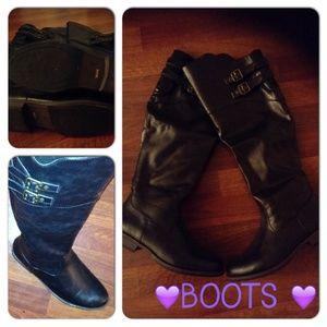 Shoes - ✨BLACK HI-BOOTS✨