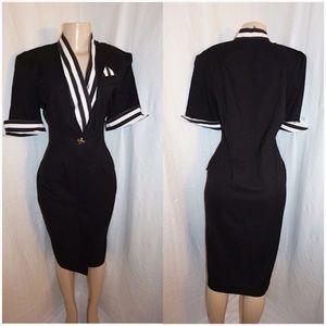 Dresses & Skirts - Vintage Black and White Stripes Dress