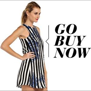 LTX Sportswear Dresses & Skirts - Gorgeous pinstripe dress with floral design.
