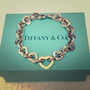 Tiffany&Co Sterling Silver & 18k Gold Bracelet